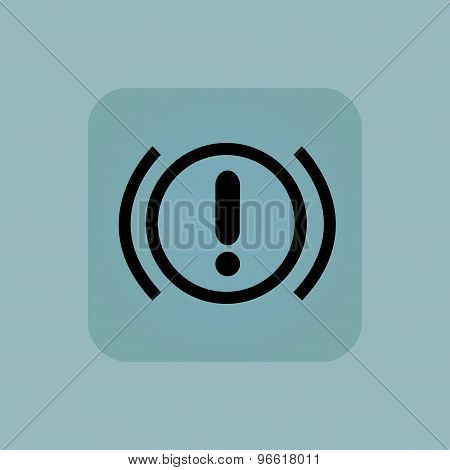 Pale blue alert icon