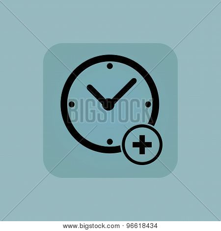 Pale blue add time icon