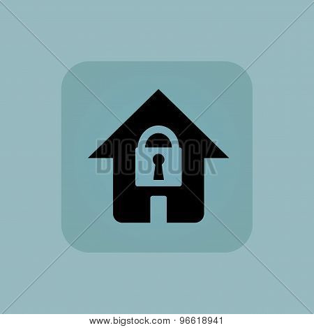 Pale blue locked house icon