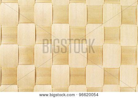 Woven Rattan Mat Pattern Background