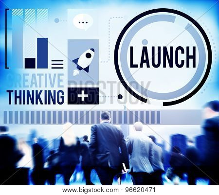 Launch New Business Inauguration Begin Start Concept