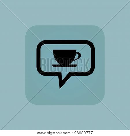 Pale blue cup message icon