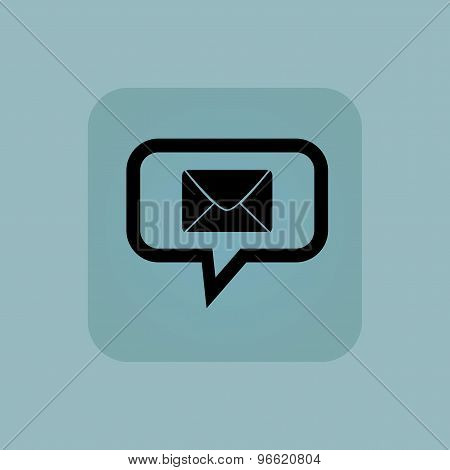 Pale blue letter message icon