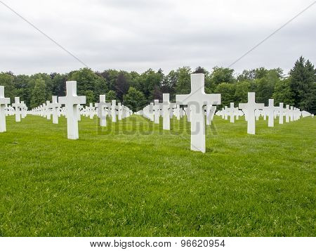 Military Cemetery In Luxembourg