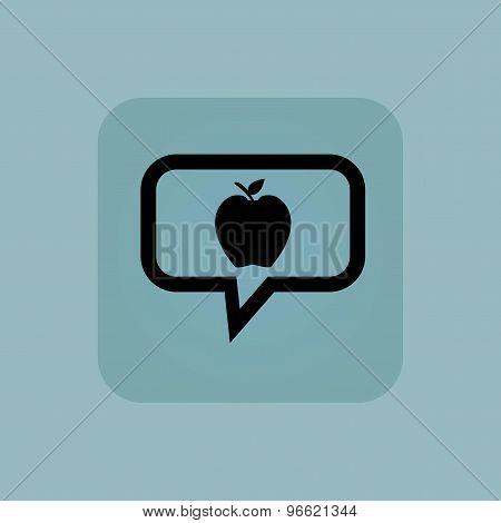 Pale blue apple message icon