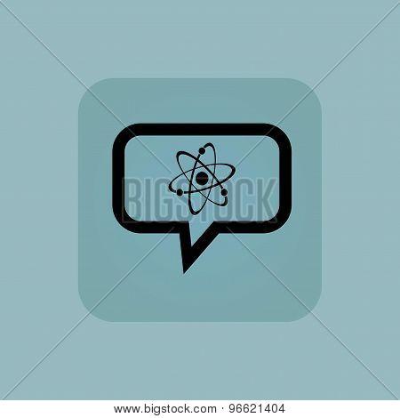 Pale blue atom message icon