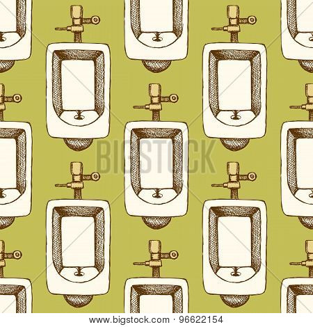 Sketch Urinal In Vintage Style