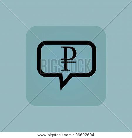 Pale blue ruble message icon