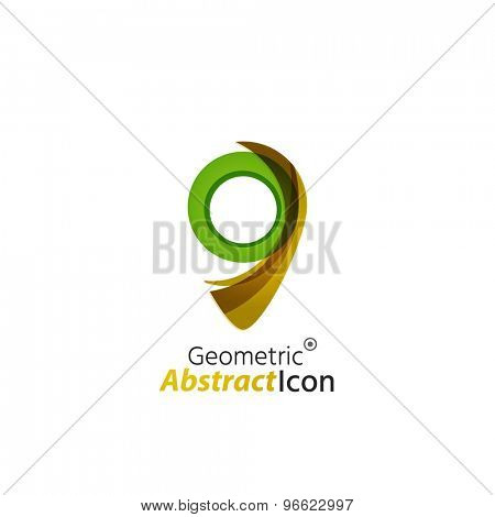 Abstract geometric business corporate emblem - map tag. Logo icon design for travel or any other idea