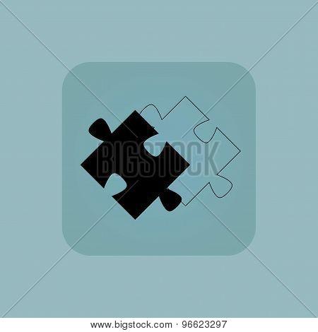 Pale blue puzzle place icon