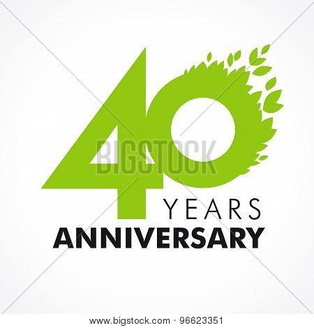 40 anniversary leaves logo