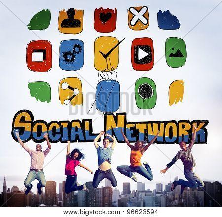 Social Network Social Media Internet Web Online Concept
