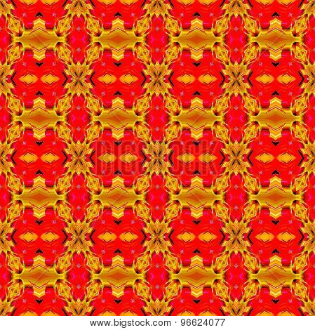 Seamless pattern ocher red