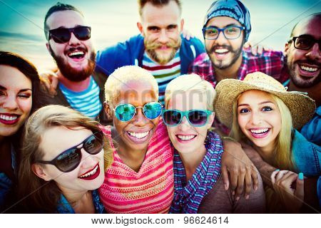 Beach Party Togetherness Friendship Happiness Summer Concept