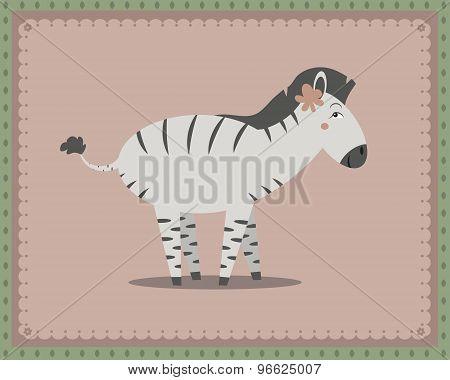Zebra Posing
