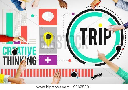 Trip Adventure Travel Destinations Recreation Concept