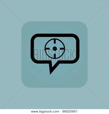 Pale blue target message icon
