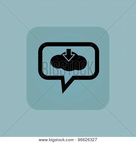 Pale blue cloud download message