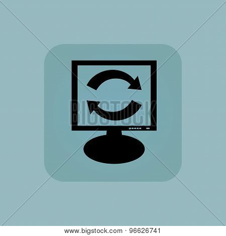 Pale blue exchange monitor icon