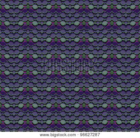 Seamless mosaic pattern purple green