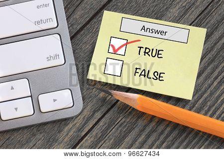 concept of true versus false