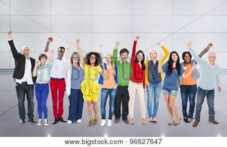 Celebration Community Cheerful Happiness Success Concept