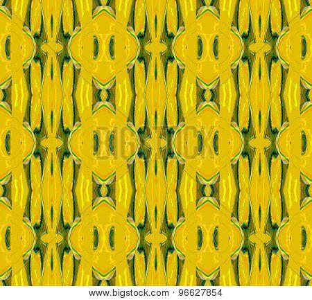 Seamless pattern ocher green