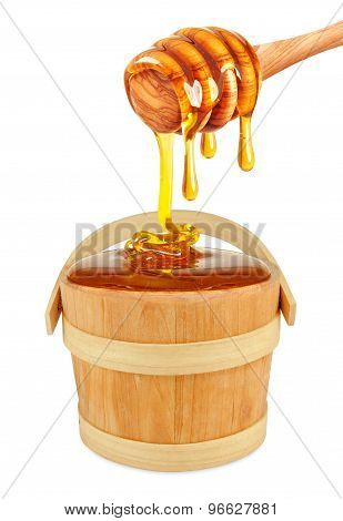 honey in a bucket