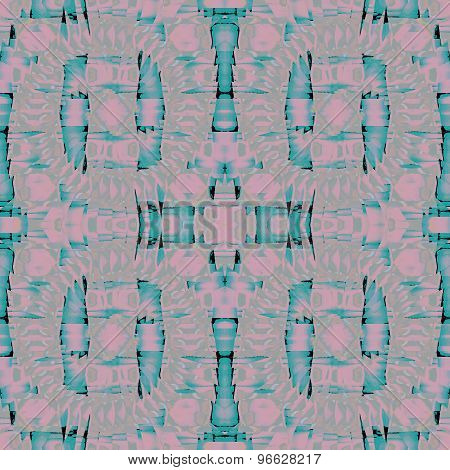 Seamless pattern turquoise mauve