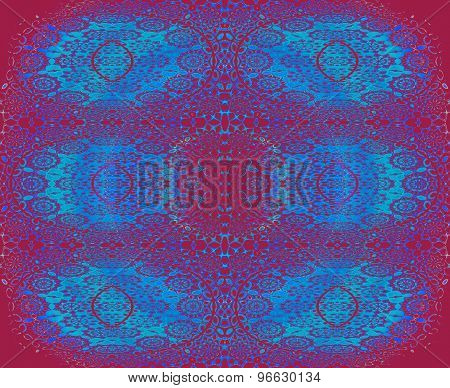 Seamless floral pattern red blue