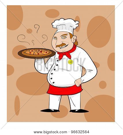 Pizza Chef (full color with background)