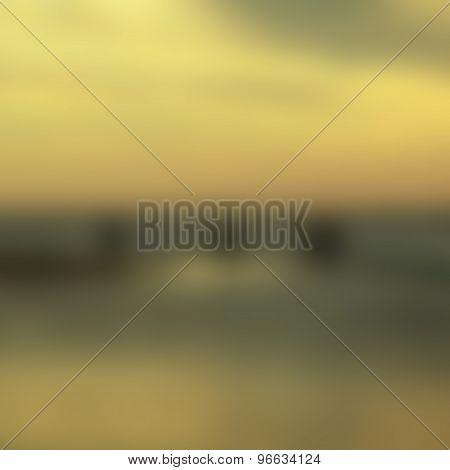 Blurred Sunrise Background In Soft Vintage Tone.