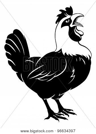 Rooster Chicken Crowing