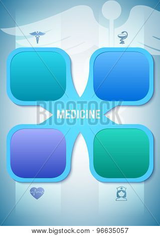 Medicine Brochure Cover Page Proportions A4 Sheet