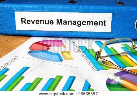 Folder with label Revenue Management and charts.