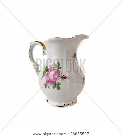 Ceramic Jar with ornament of rose