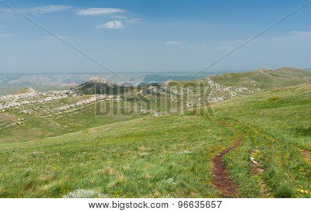 Chatyr-Dah mountainous massif in Crimea Ukraine