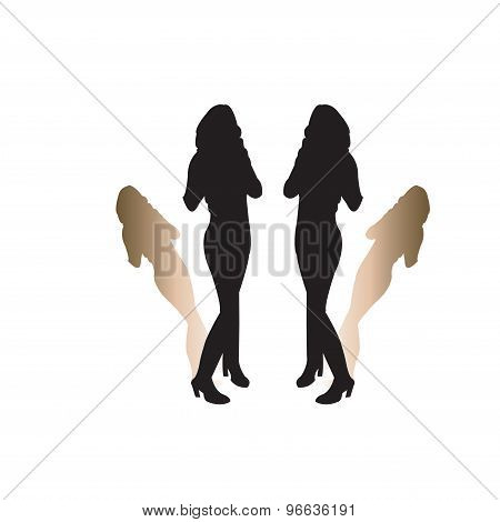 Silhoutte Of A Woman