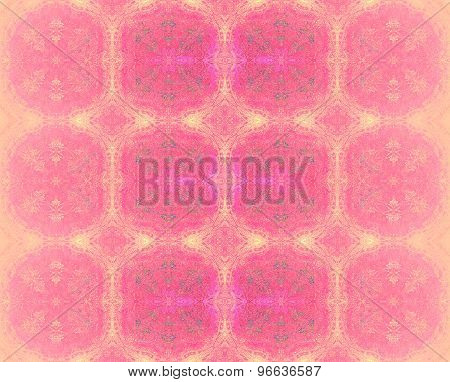 Seamless pattern pink yellow