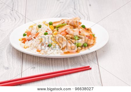 Chicken Cashew Rice Dish