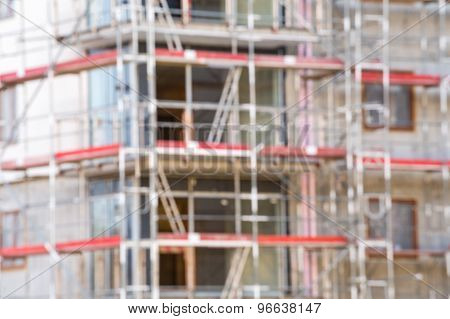 Blurred Apartments Under Construction