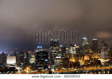 Pittsburg Skyline at Night