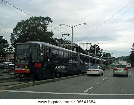 SAN FRANCISCO, CA - NOVEMBER 16: SFMTA Caltrain Passenger Commuter Rail Service  2012