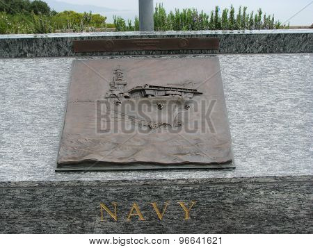 Navy 3D Art Sculpture in San Francisco California