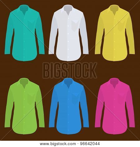 Shirt Long Sleeve Design Template