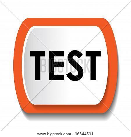 test glossy web icon