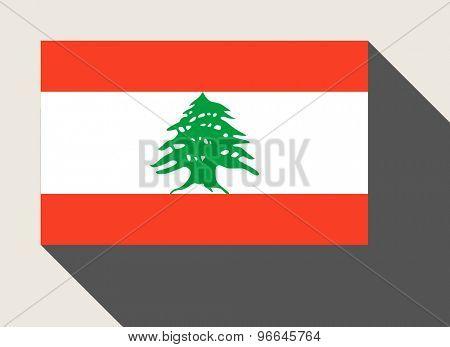 Lebanon flag in flat web design style.