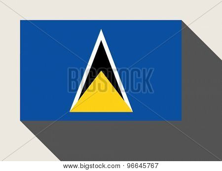 St Lucia flag in flat web design style.