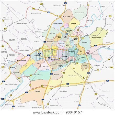 Frankfurt Administrative Map