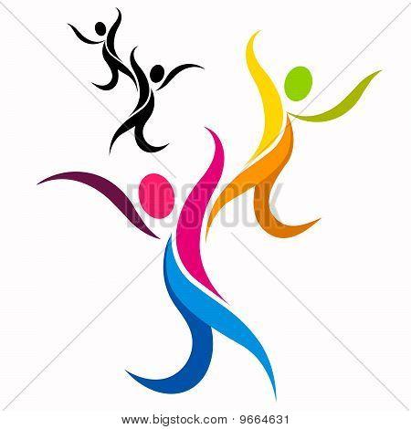 Dancing Symbol Elegant dancing people symbol